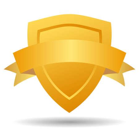 trustworthy: Security heraldic emblem with shield Illustration