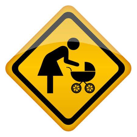 nurseling: Mother restroom icon illustration Illustration