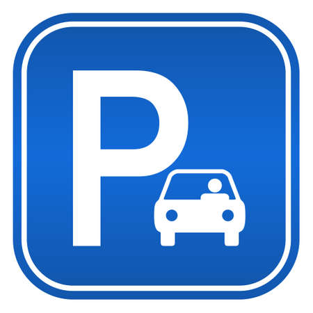Auto segno di parcheggio, illustrazione vettoriale