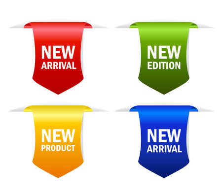 New arrival ribbons Vector