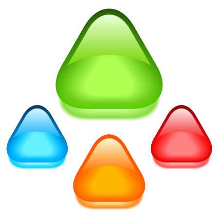 triangle button: Crystal icons set illustration
