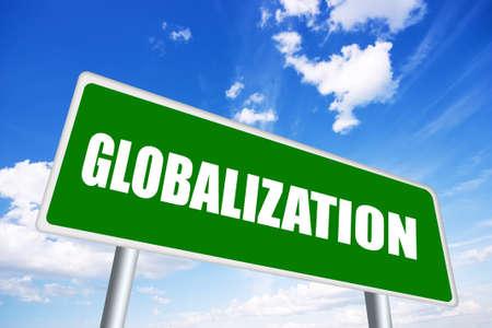 Globalization sign Stock Photo - 15198335