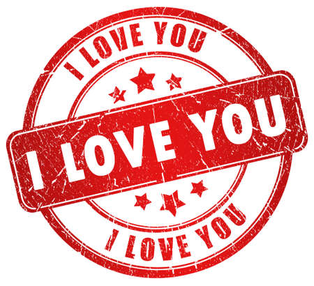 I love you stamp photo