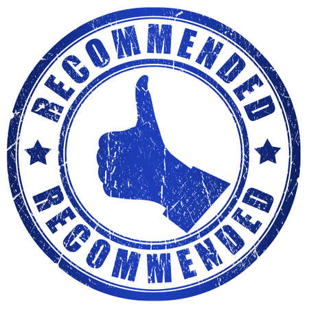 recommended: Recommended blue grunge stamp