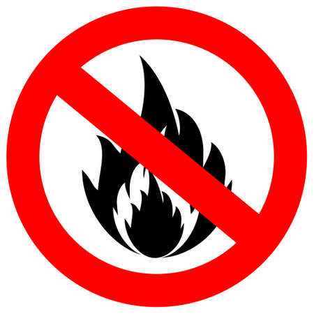 forewarn: No fire  sign