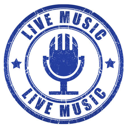 Live music stamp Stock Photo - 15091600