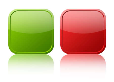Red and green blank web buttons photo
