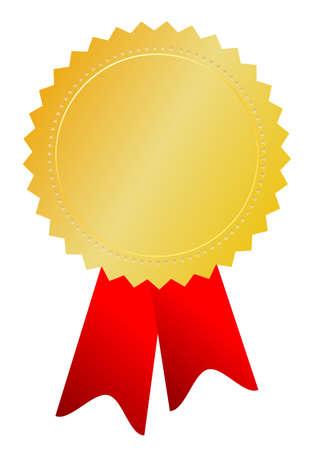 medaglia d'oro, illustrazione Vettoriali