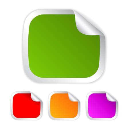 adhesive: Pegatinas Rectangle conjunto, ilustraci�n Vectores