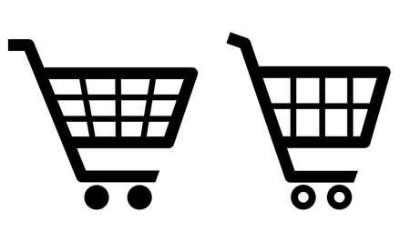 negozio: carrello icone Vettoriali