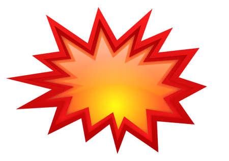 estrella caricatura: Vector estallido estrella