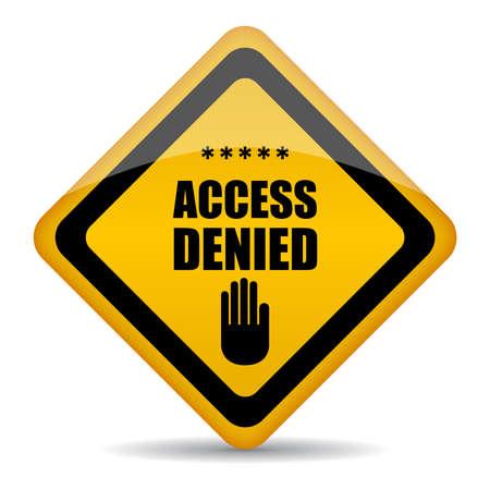 no pase: Acceso denegado signo vector