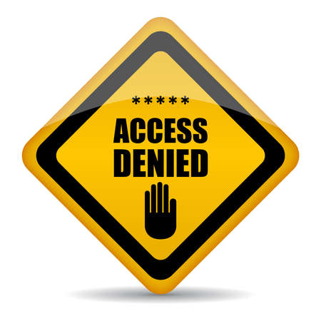 access restricted: Access denied vector sign