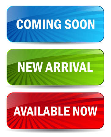 available: Vector coming soon banners