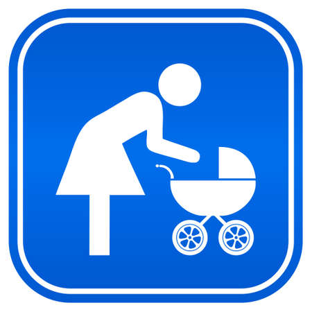 Mother and child sign, vector illustration Stock Vector - 15503335