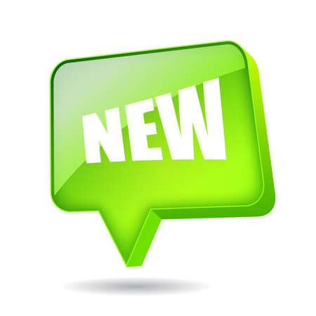 nowy: New speech bubble prostokąt, ilustracji wektorowych