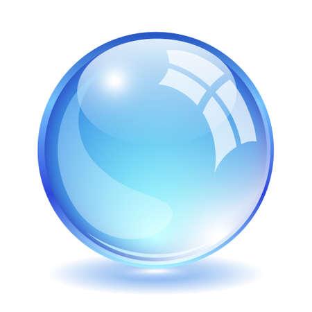 crystal clear: Vector glass ball Illustration