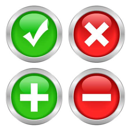 Botones conjunto de permisos