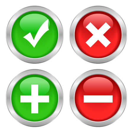 Permission buttons set Vector