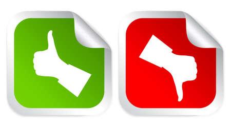 dislike: Voorkeur en afkeer stemming stickers