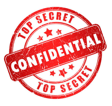 strictly: Confidential stamp