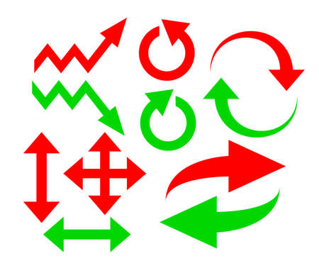 flechas curvas: Flechas vectoriales establecer Vectores