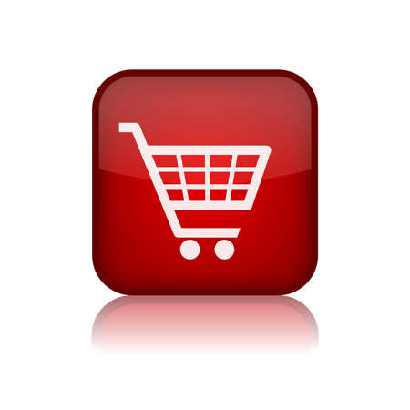 Shopping trolley vector button Vector
