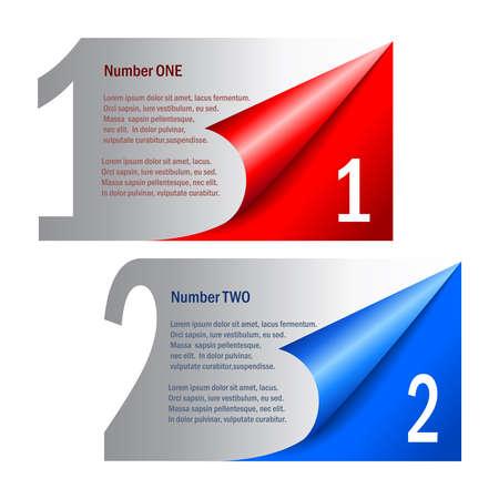 informative: Options numbered labels, vector illustration