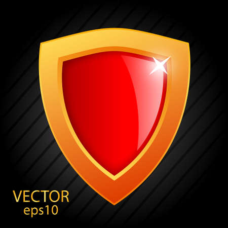 Glass vector shield illustration Vector