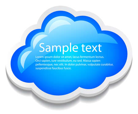 Vector cloud icon illustration Stock Vector - 15399616