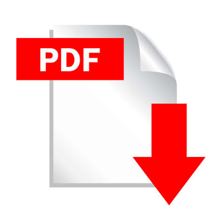 download icon: Pdf file download icon, vector illustration