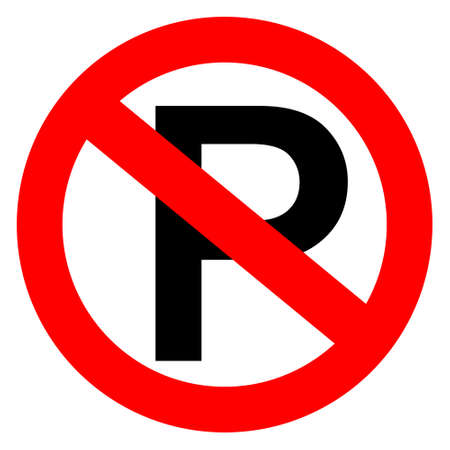 zones: No parking sign, vector illustration Illustration