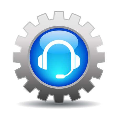 soutien: Ic�ne Support, illustration vectorielle