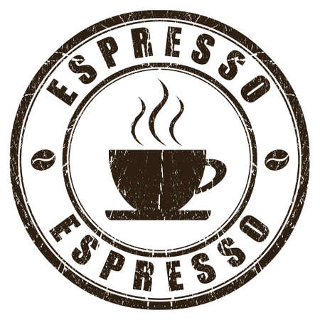 Espresso stamp isolated on white Stock Photo - 15483687
