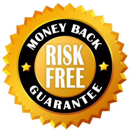 guarantee seal: Money back guarantee seal Stock Photo