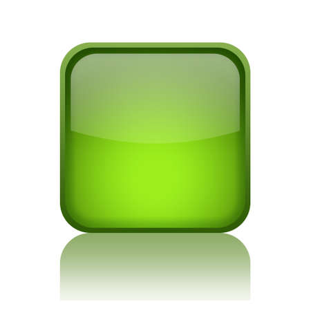 rounded squares: Green web button