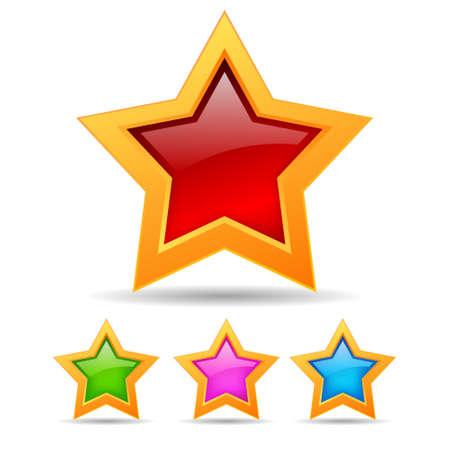 Vector stars set Stock Vector - 15544261