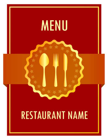 Menu design, vector illustration Vector