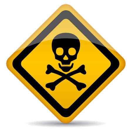 perilous: Skull vector rhombus sign illustration Illustration