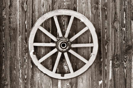 wagon: Retro wheel photo