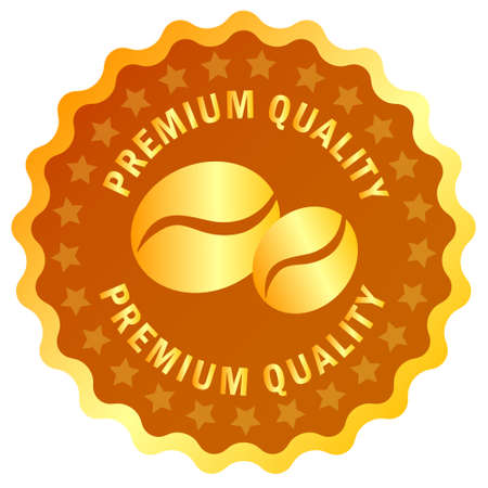 premium quality: Coffee premium quality label, vector illustration