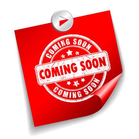 soon: Binnenkort vector sticker