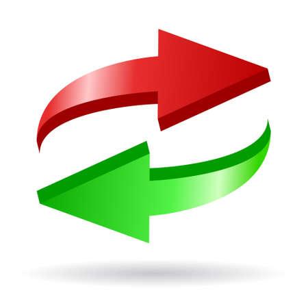 opfrissen: Pijlen vector icon