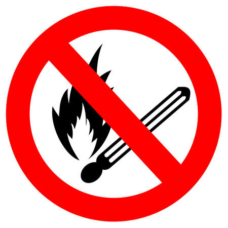 No fire vector sign Stock Vector - 15559532