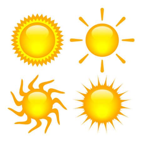suns: Vector suns set