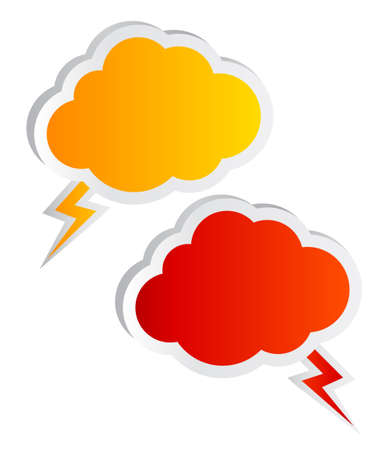 Cloud speech bubbles photo