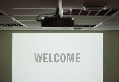 Welkom scherm