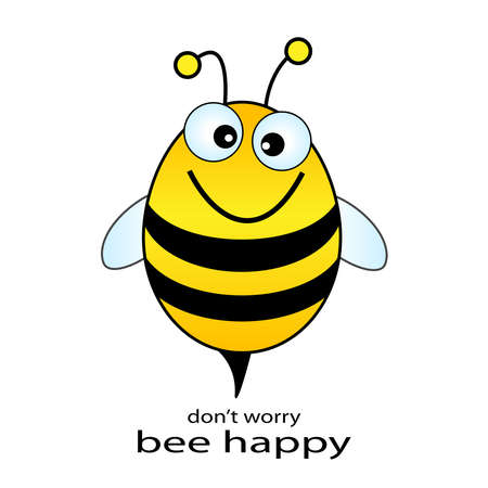 and worry: Bee happy  illustration