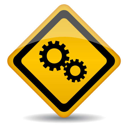 Service sign with gears, illustration