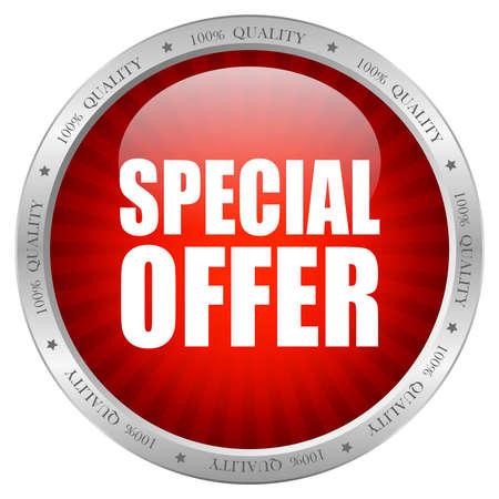 Vector icono oferta especial Ilustración de vector